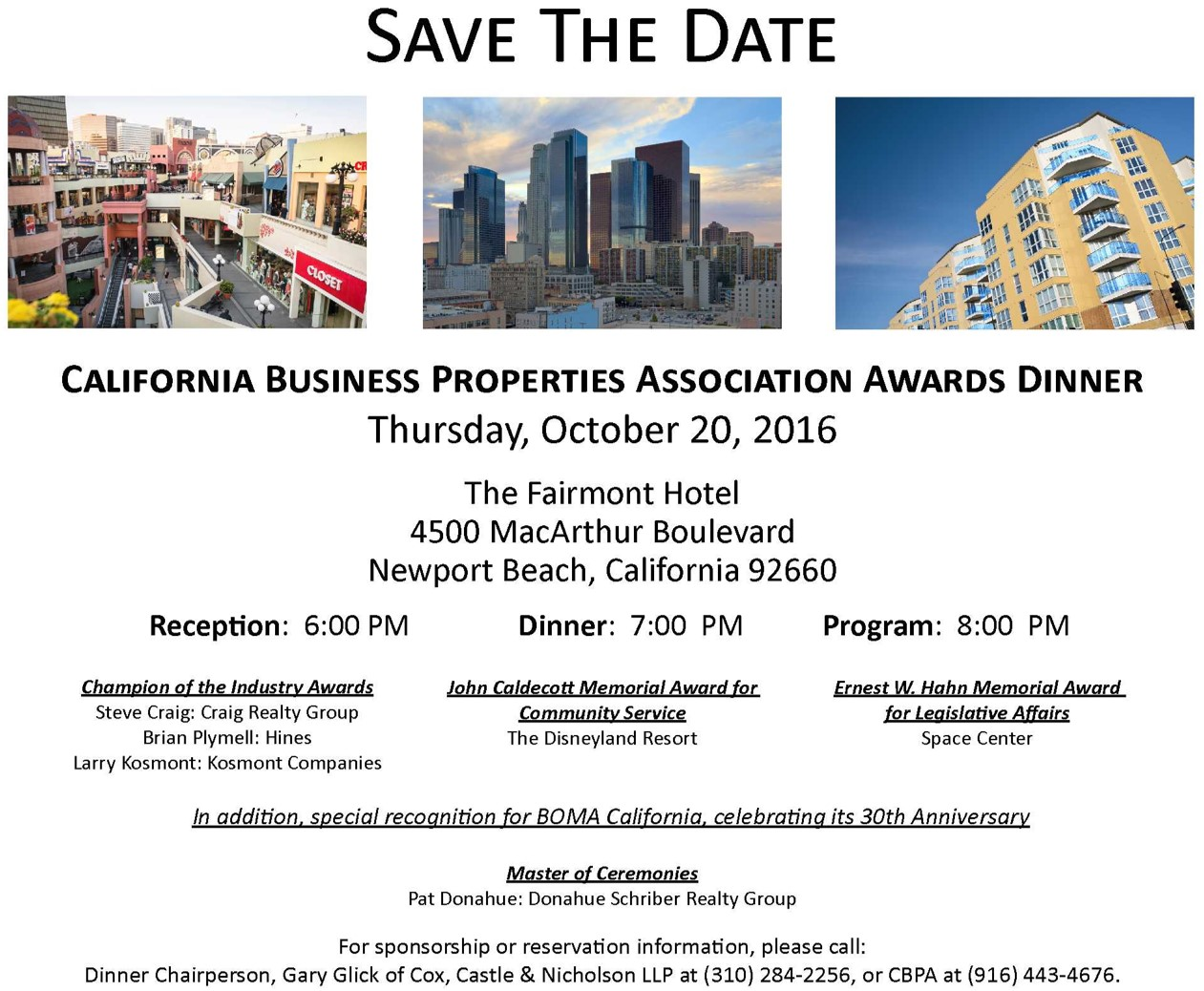 Save the Date - Awards Dinner - cropped photo for webpage button